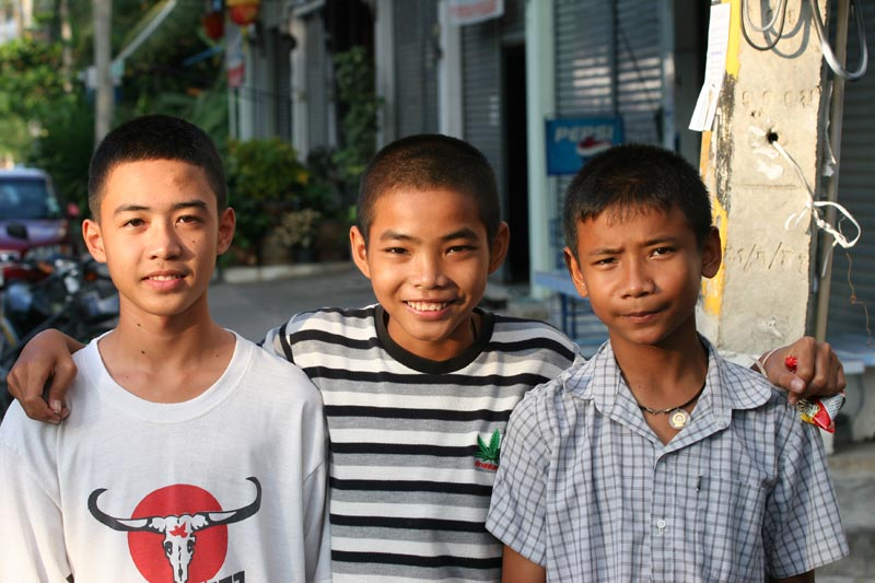 These three lads yelled out to me while I was wandering around Korat with a camera slung over my shoulder and requested that I take their photo. When I started to speak to them in Thai, they got nervous, went quiet, and then ran away!