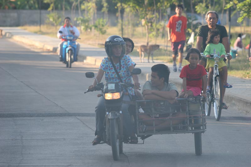 Family transport in Korat.