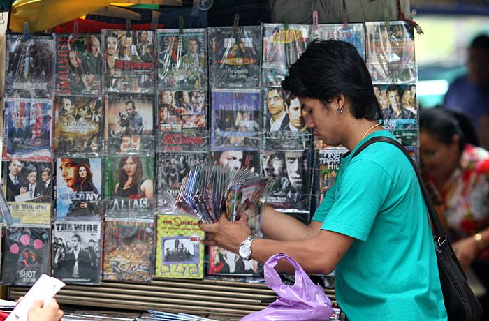 Bent DVDs for sale on Sukhumvit.