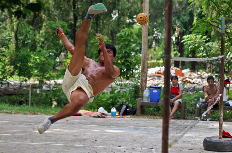 Ta-graw, that odd mix of volleyball and football fascinates sports fans when they see it for the first time. It is played with a really odd little ball and the players are quite athletic. The sport is very popular in South East Asia.