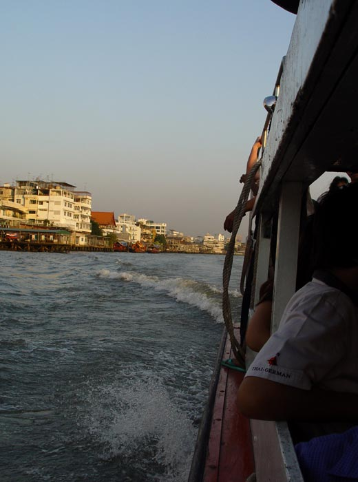 Riding on The Chao Praya Express Boat in Bangkok, one of my favourite things to do to relax in the capital.
