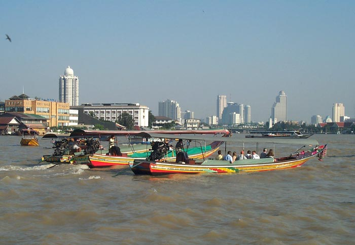 The Chao Praya River, near Wat Arun.