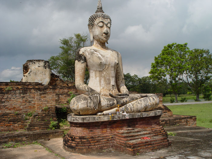 Sukhothai, even better than Ayuthya, but much harder to get to, at least if you are travelling from the capital.