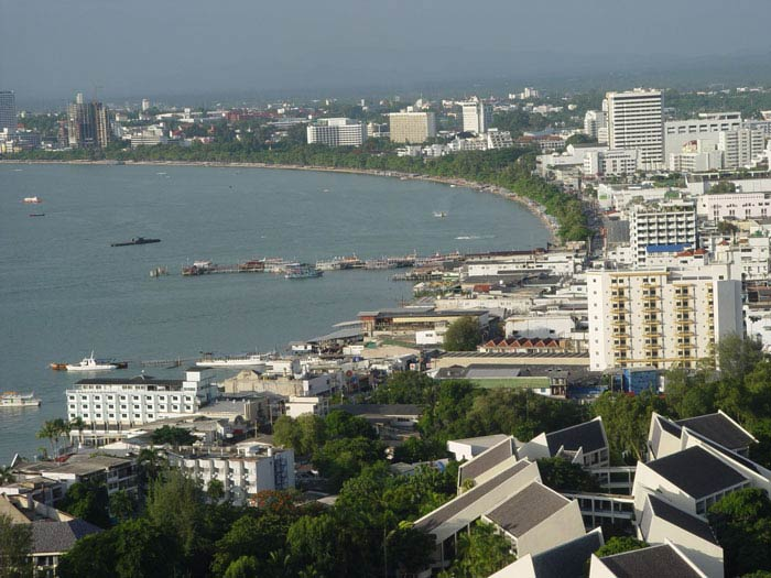 Pattaya Bay from the hill. Can you see your teeruk in the pic?