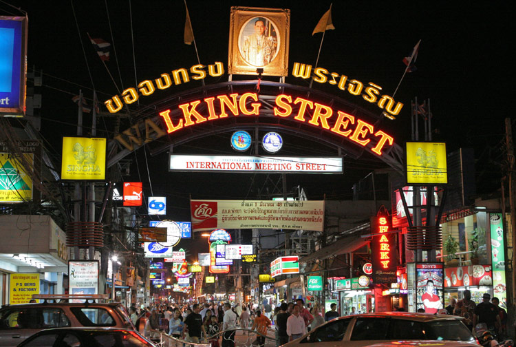 Probably one of the most photographed spots in Pattaya, the beginning of Walking Street. On this inauspicious occasion, the neon wasn't operating quite as it should have been.