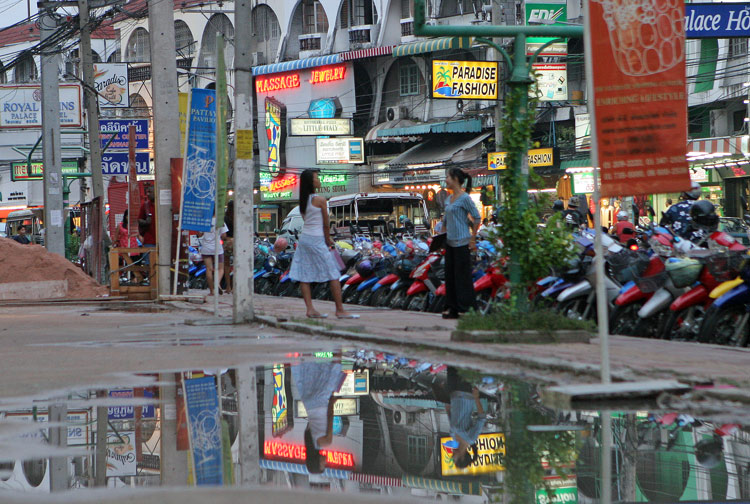 Just after the rain had stopped on the Second Road, Pattaya.