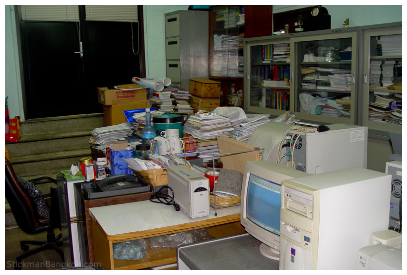 The state of some people's offices as well as some teachers' rooms in Thai ...