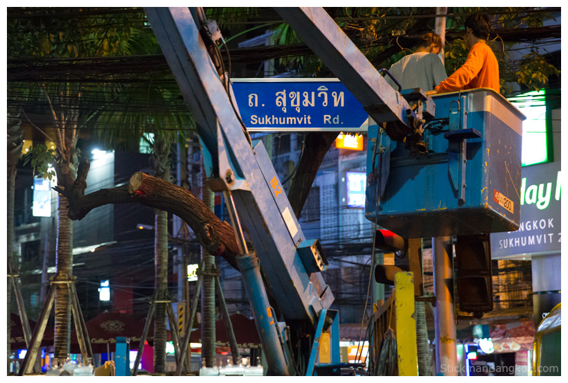 Bangkok new street signs