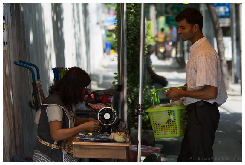 Bangkok nut seller