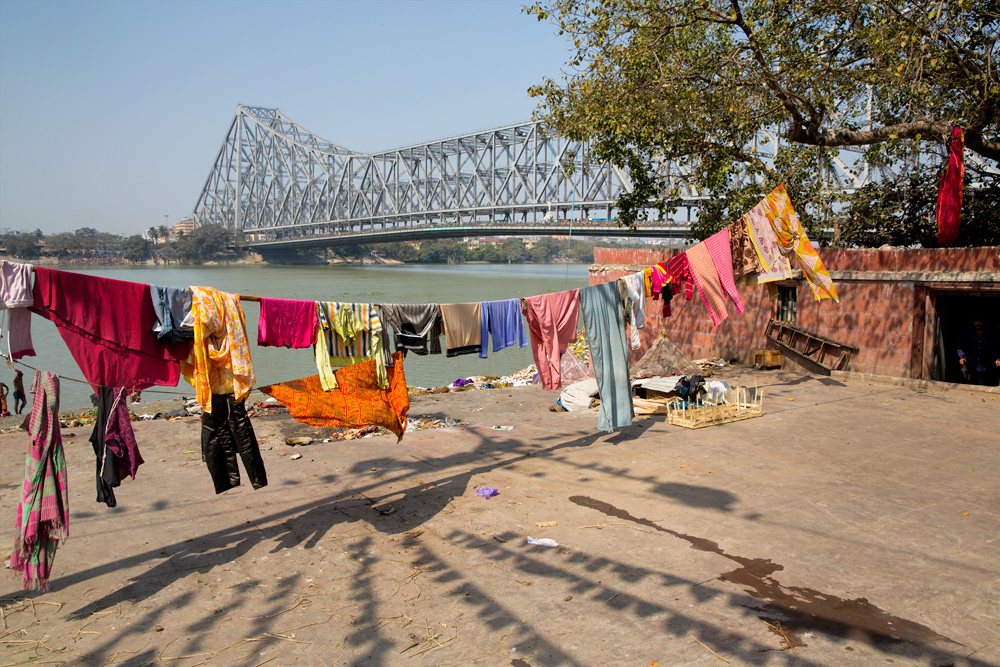 Calcutta, Howrah Bridge