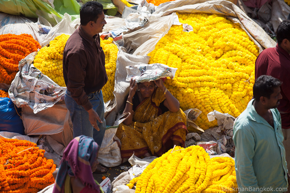 Calcutta flower market