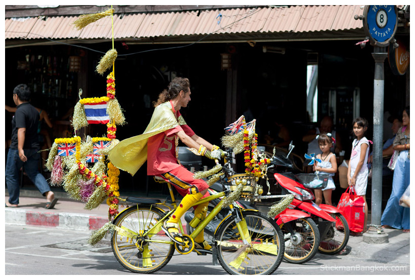 Pattaya golden bike man