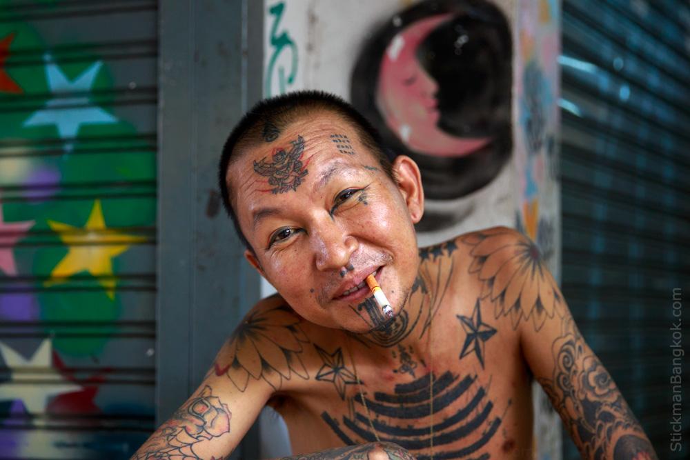 Pleasure and pain stickman bangkok for Bangkok tattoo prices