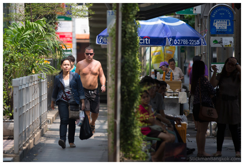 shirtless in Bangkok